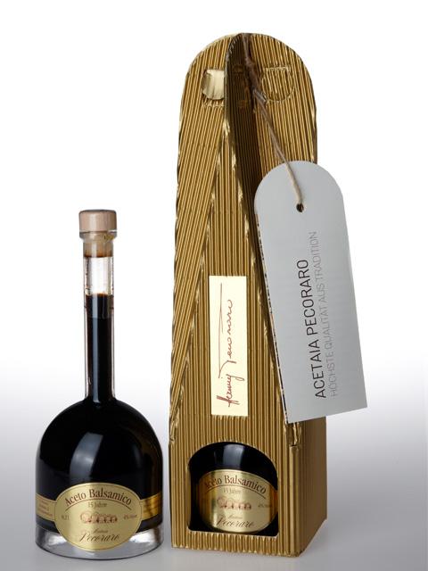 Aceto Balsamico Pecoraro - 15 Jahre mit Verpackung
